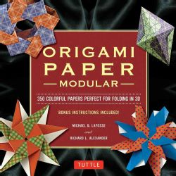 Modular Origami Paper Pack 350 Colorful Papers Perfect for Folding in