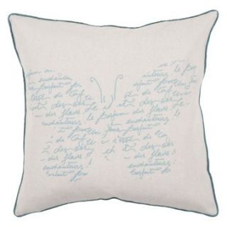 Surya Paris Butterfly Decorative Pillow   Ivory   Decorative Pillows
