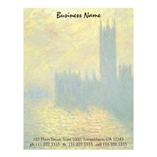 Houses of Parliament, Stormy Sky by Claude Monet Letterhead Design