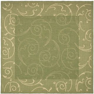 Indoor/ Outdoor Oasis Olive/ Natural Rug (710 Square)