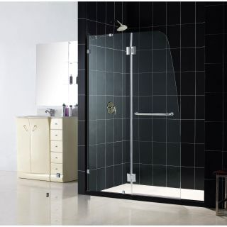 DreamLine Aqua 48x72 inch Clear Glass and Brushed Nickel Shower Door