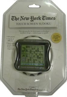 Handheld NY Times Sudoku Travel Game