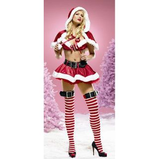Womens Sexy Mrs. Santa Claus 3 piece Costume