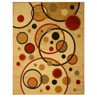 Pat Cosmic Abstract Ivory Rug (710 x 106)