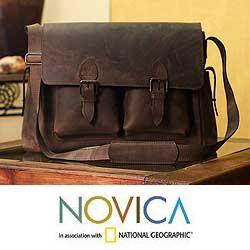 Leather Adventurer Medium Travel Bag (Mexico)