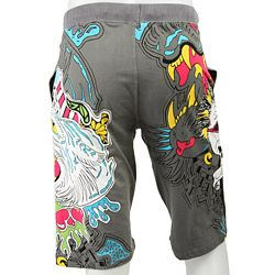 Ed Hardy Mens Business Punk Cotton Shorts