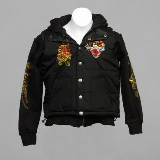Ed Hardy Big Boys Hoodie and Vest Set