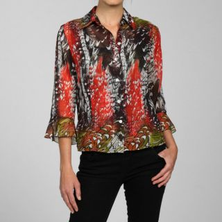 Nicola Womens 2 piece Button down Blouse