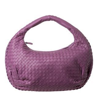 Bottega Veneta Light Violet Intrecciato Nappa Leather Woven Belly Bag