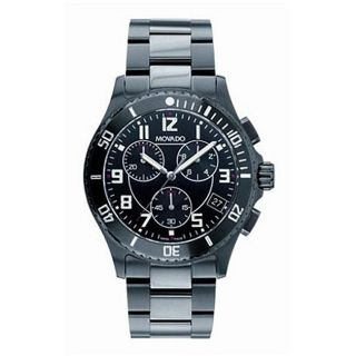 Movado Mens Junior Sport Black PVD Chronograph Watch