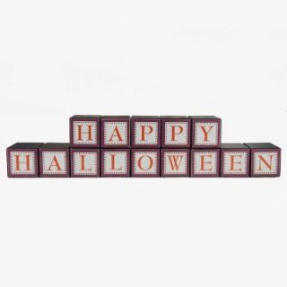 Interiors 3.5 in. Happy Halloween Blocks