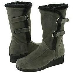 Fitzwell Kelly Dark Grey Kid Suede Boots