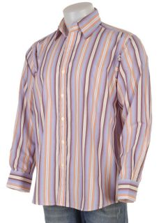 Eighty Eight Mens Multi Color Vertical Stripe Shirt