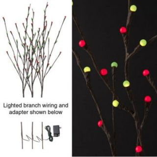 RAZ Imports 39 in. Red and Green Lighted Brown Branches   Set of 3 at