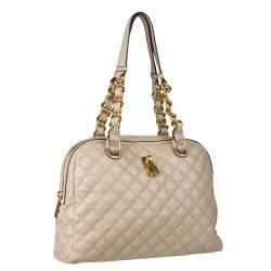 Marc Jacobs Karlie Beige Quilted Leather Satchel