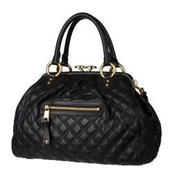 Marc Jacobs Black Quilted Leather Satchel