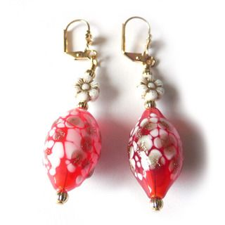 Palmtree Gems Gabriella Hand Blown Glass Earrings