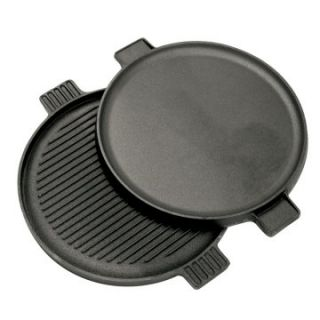Bayou Classics Cast Iron Reversible Round Griddle   Cast Iron Cookware