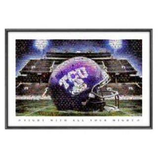 Sports Coverage Texas Christian Amon G. Carter Stadium Mosaic at