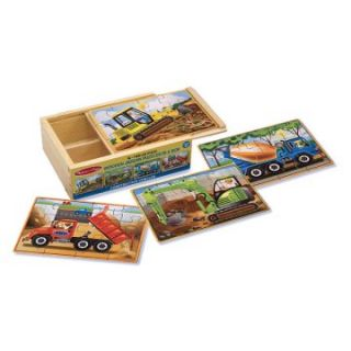 Melissa and Doug Puzzle in a Box Set   Boys   Set of 4   Kids