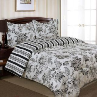 Divatex Home Fashions Cordoba Bedding Set   Black   Duvet Covers at