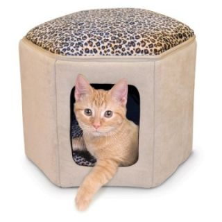 Pet Products Kitty Sleephouse   Tan / Leopard   Cat Beds at
