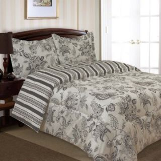 Divatex Home Fashions Cordoba Bedding Set   Gray   Duvet Covers at