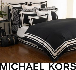Michael Kors Five star Black King Size Duvet Cover