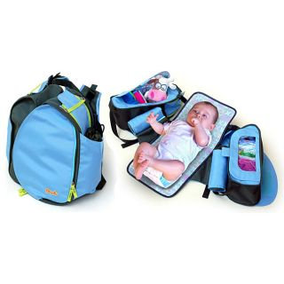Change N Go Diaper Bag in Seashell Blue