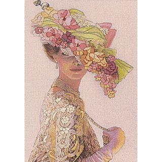 Genteel Lady Mini Crewel Kit 5X7 Stitched In Wool & Thread