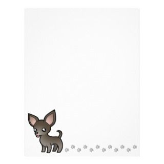 Cartoon Chihuahua (blue smooth coat) letterhead by SugarVsSpice