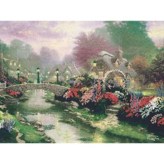 Thomas Kinkade Lamplight Bridge Embellished Cross Stitch Kit Today: $