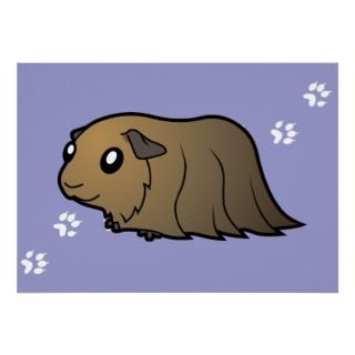 Cartoon Guinea Pig (brown) posters by SugarVsSpice