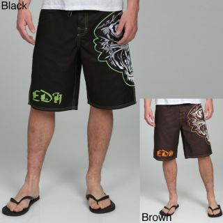 Ed Hardy Mens Embossed Tiger Board Shorts