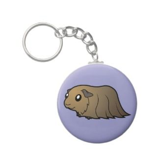 Cartoon Guinea Pig (brown) keychains by SugarVsSpice