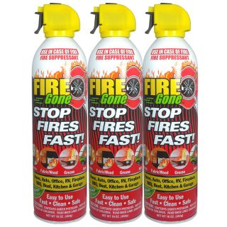 Fire Gone Fire Suppressant (Pack of 3)