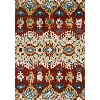 Hand tufted Arianna Red/ Multi Wool Rug (36x56)