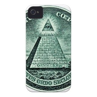 Eye On The Dollar Illuminati Pyramid iPhone 4 Cover