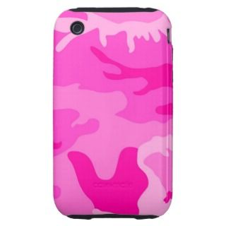 Camouflage Pink iPhone3 Case Tough iPhone 3 Case