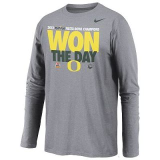 Nike Oregon Ducks 2013 BCS Tostitos Fiesta Bowl Champions Long Sleeved