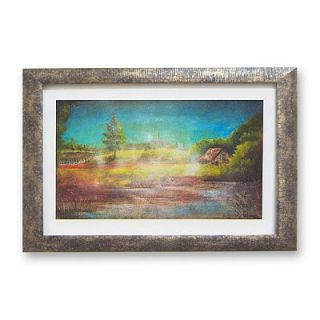 Country Cabin & Meadow Framed Wall Art by David Linanetz