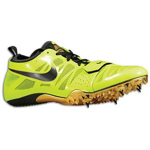 Nike Zoom Celar 4   Mens   Track & Field   Shoes   Volt/Metallic Gold