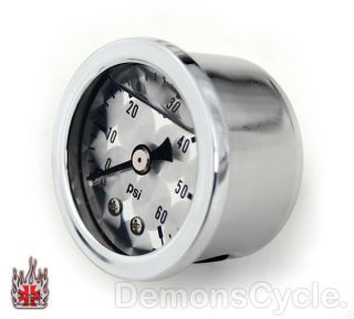 Oil Pressure Gauge with Mounting Kit for Harley Davidson Big Twin EVO