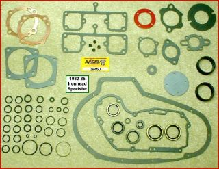Motor Gasket Seal Kit for 1982 85 Ironhead Sportster Engine