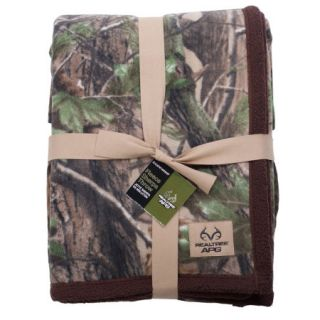 Realtree APG Camo Sherpa Fleece Throw