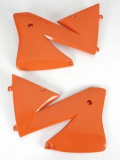 UFO Plastic Radiator Cover Orange KTM 125 520 EXC 01 02