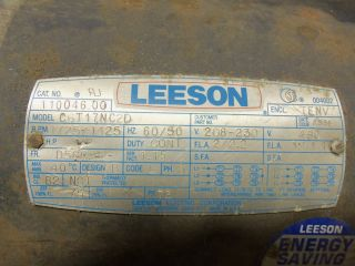 HP Leeson 1725 RPM Electrical Motor