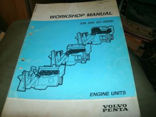 1993 1994 Volvo Penta 230 250 251 DOHC Engine Shop Service Workshop