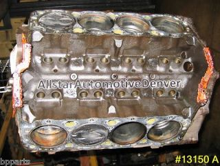 GM Chevy 350 5 7L Vortec Engine Rebuildable Short Block 2 Bolt 1997