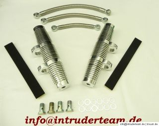 Ölkühler Oil Cooler Set Doppel Alu Poliert Intruder VS1400 Suzuki
